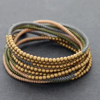 Beaded Bracelets Brass Wrap Woven Earthy Pastel Necklaces Anklets Strand