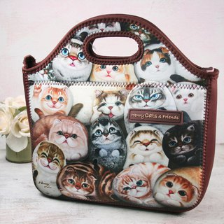[Henry House Family] Diving Cloth Tote Bag - Hundred Cats