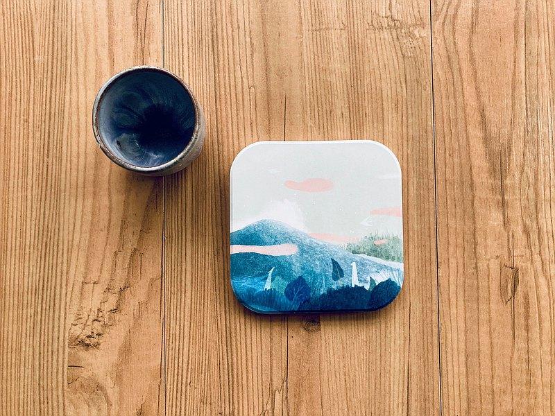 陶瓷杯墊 - 山的柔軟