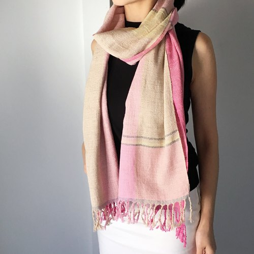 Unisex Scarf - Pink mix 2 - All season available -