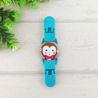 Mr. Monkey. Handkerchief clip / universal clip / toy clip / double head clip (monkey baby)