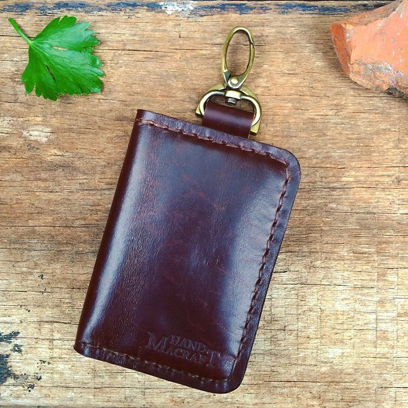 wallet keychain 2nd edition (color dark brown)