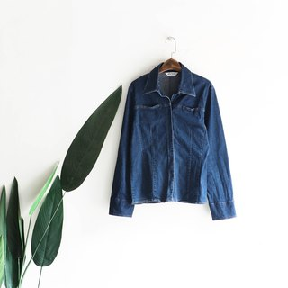 Aichi deep sea blue porpoise Beijing 遨 tour stereo waist antique cotton denim shirt jacket coat shirt