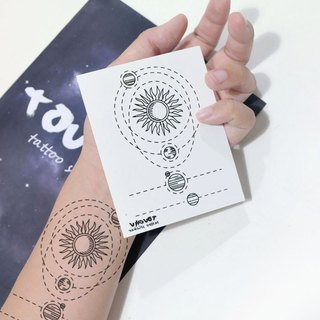 TU Tattoo Sticker - solar system / Tattoo / waterproof Tattoo / original / Tattoo Sticker