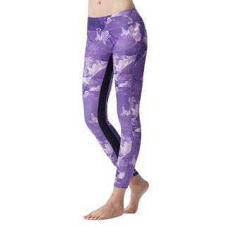 [MACACA] Symphony Firming Flower Plus Plus Cropped Pants - AUE7441 Purple
