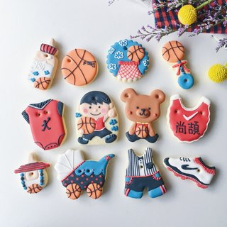 Receive saliva sugar cookies • Slam Dunk Jordan baby boy models hand-painted creative design gift box 12 group**Please contact the subscription schedule before ordering**