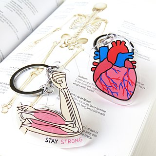 Internal Organ Keychain Keyring - Heart