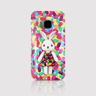 (Rabbit Mint) Mint Rabbit Phone Case - Bu Mali Candy Merry Boo Jelly Bean -HTC One M9 (M0021)