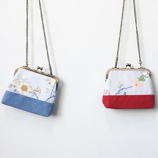 Wahr_Tree and flowers  clasp frame bag/with chain/ cosmetic bag / shoulder bag /