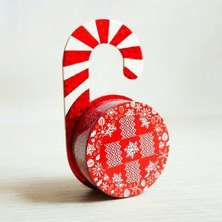 [Hoppy] Christmas paper tape X'mas-S Snow / GTIN: 4713077971833