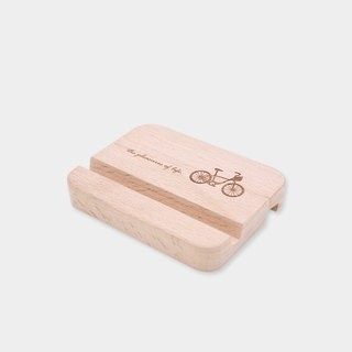 [small box] double-sided business card / mobile phone holder _ pattern version / wood / gift / gift / graduation gift