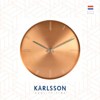 荷蘭Karlsson, Wall clock Belt copper plated, Design by Boxtel Buijs