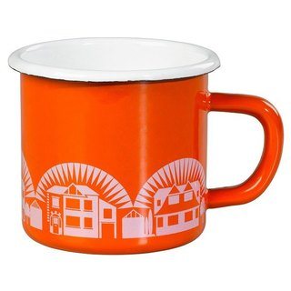British import Wild and Wolf country cottage 珐琅 mug (orange)