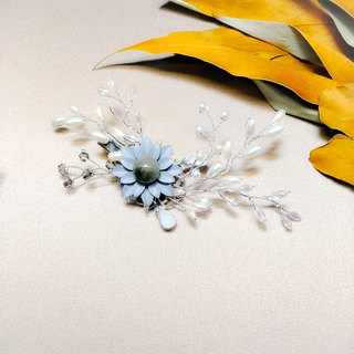 Wearing a happy Aegean series hair clips - Lishi flowers