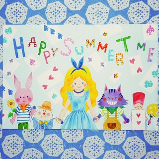Postcard (Summer) Happy summer time will be Alice's Tea