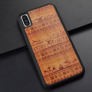 Samsung S7 S8 Plus Iphone 8 Apple X Mobile Shell Samsung Wood Phone Case Vintage original handcraft