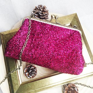 Carry 2WAY gold chain bag play party pink
