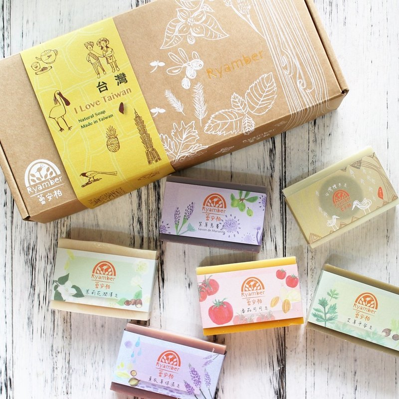 [蕾安柏]新春福袋│Handmade soap gift box-six into the group │ Taiwan with hand │