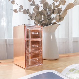 Metal Decorative Acrylic Organizer Series (Rose Gold)