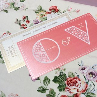Customized gilt letters wedding card * 100 * group ticket card