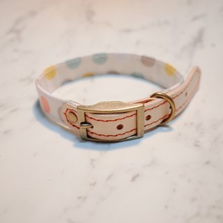 Dog collars, M size, Colorful pink dots_DCJ090439