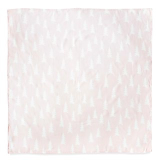 Organic cotton gauze wrap (Forest – Light Pink) – GRAN MUSLIN BLANKET–Powder