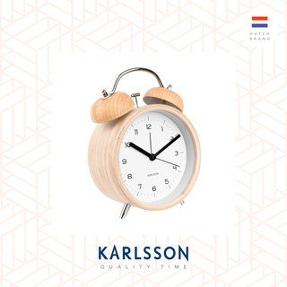 Karlsson, Big Alarm clock Classic Bell wood white,