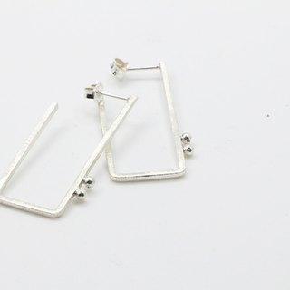 Geometric series | Rectangular sterling silver earrings | simple style handmade