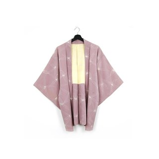Back to Green-Japan brought back feather woven pink/vintage kimono