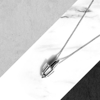 BULLET Necklace / White Gold