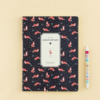ARDIUM silky notebook (big) - Deep Blue Fox