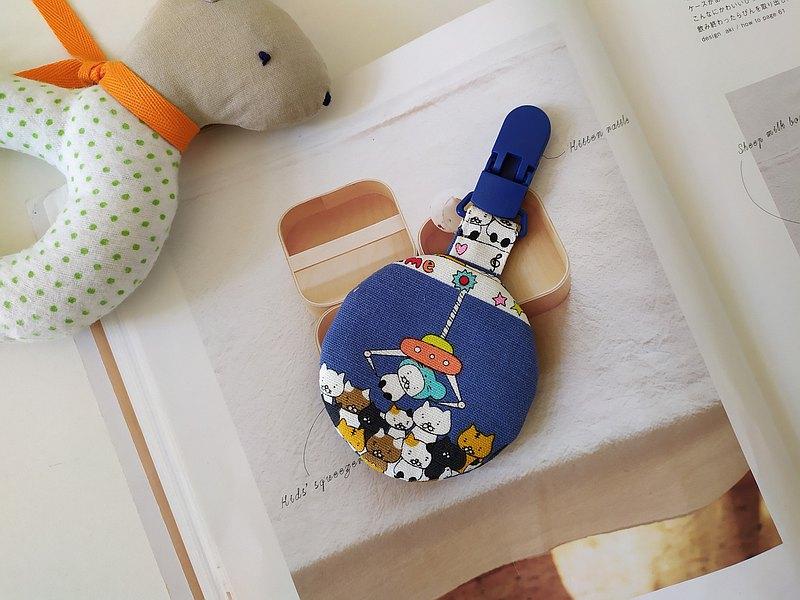 貓咪夾夾樂 圓型平安符袋 彌月禮物 平安符袋 香火袋 貓咪