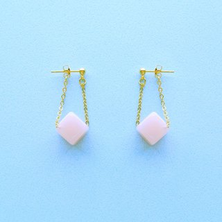 Chicken Maru lab micro-sweet early summer peach candy sway earrings / ear clip (ED003)