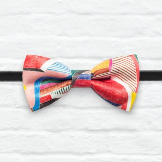Style 0309 Printed Bowtie - Modern Boys Bowtie, Toddler Bowtie Toddler Bow tie, Groomsmen bow tie, Pre Tied and Adjustable Novioshk