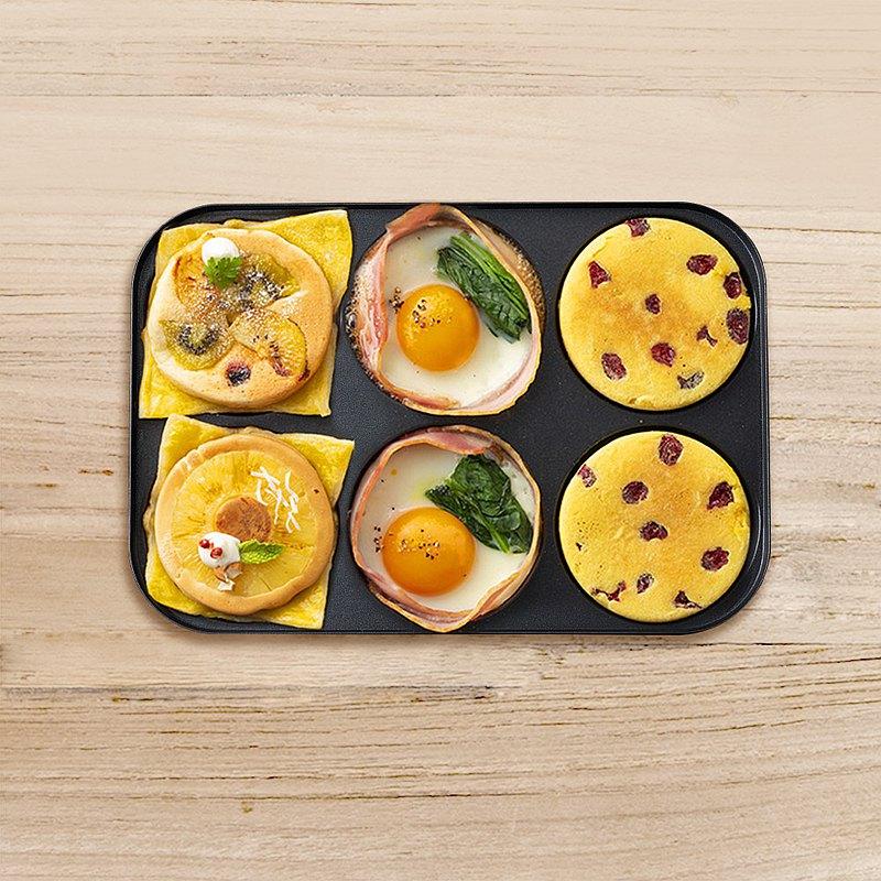 日本BRUNO 六格式料理盤(電烤盤專用配件)