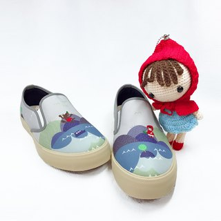 Fairytale casual shoes (Adult) - Little Red Riding Hood and Big Wolf Sun Moon Lake Tour Women's Shoes