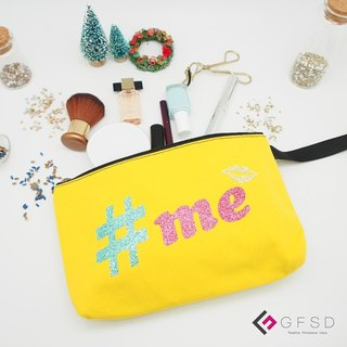 【GFSD】 Rhinestone boutique-Look me series - lemon yellow 【#me】 portable million with cosmetic bag