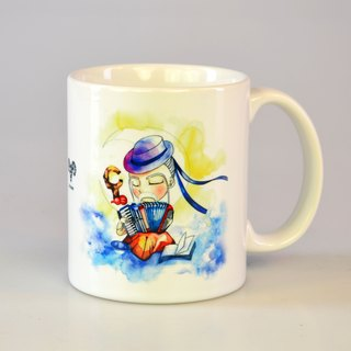 Tabby sheep - romantic old age. Godsend / illustration mug