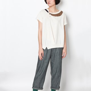 And - The Sun's Taste - Special neckline knit top