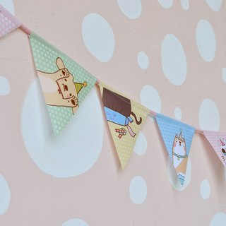 Meatball pawpad ♥ Celebration Happy Triangle Flag Strap