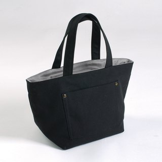 Outer pocket tote bag - Black