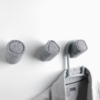 felt wall hooks, house wall hooks, children coat hangers, kids and babies