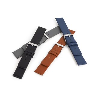 Genuine Leather Strap - 20 mm. (Brown, Navy, Black or Gray)