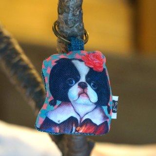Japanese Chin gorgeous models | Mr.Q key ring