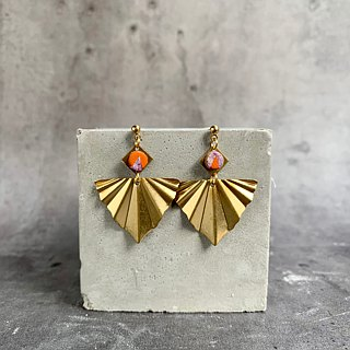 Origami angels - Origami shaped leather earrings