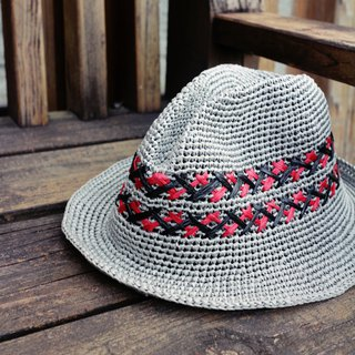 Handmade - gentleman woven hat - visor - travel / light travel / birthday gift