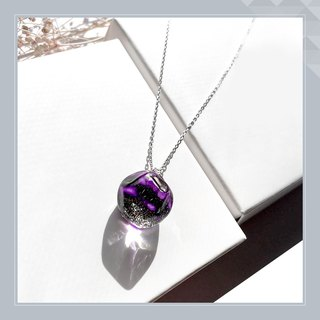 Cameo glass polygon purple. Power Color Birthday
