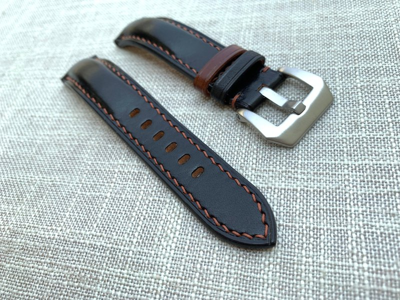 Bright black leather convex convex hand strap strap custom strap custom strap