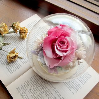 Gradual eternal flower large glass ball / dry flower / no flower / Valentine's Day / confession gift / Teacher's Day gift
