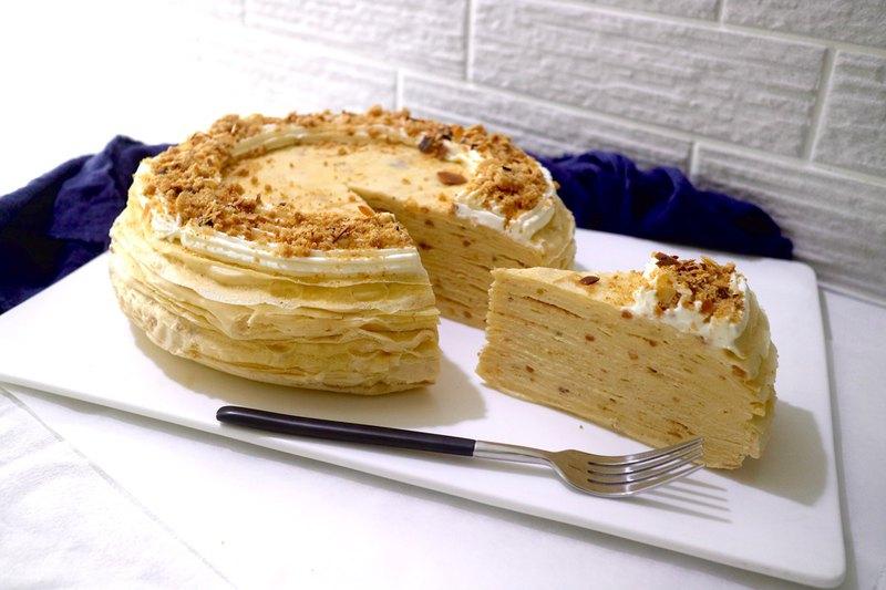 酥菠蘿花生卡士達千層蛋糕